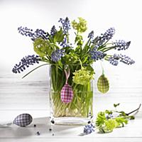 Easter bouquet in glass vase