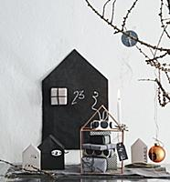 Parcels for Advent calender wrapped in black and w