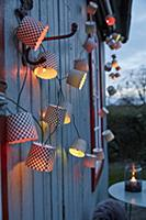 DIY fairy lights made from paper baking cases