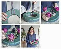Instructions for making a Christmas wreath with ro