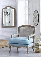 Baroque armchair with Viennese cane back and pale