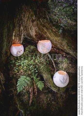 Handmade papier-mвchй candle lanterns