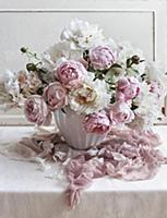 Romantic bouquet of peonies