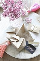 Origami gift box and Meyer lilac