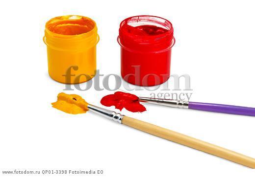 Рисунки красный и жёлтый