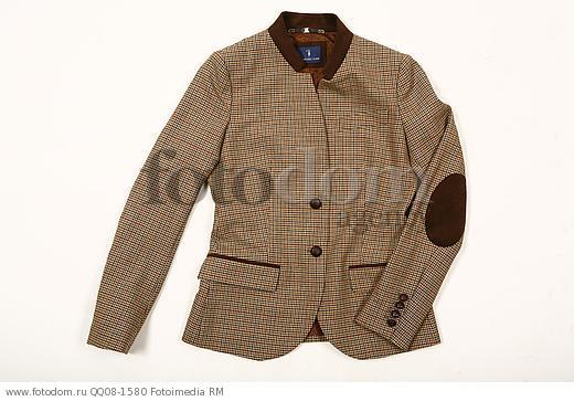 Клетчатый пиджак с заплатками на локтях    Изображение QQ08-1580 ... 5f2429517cb