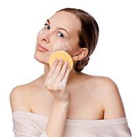Beautiful Young Woman Touching Her Face.Fresh Heal