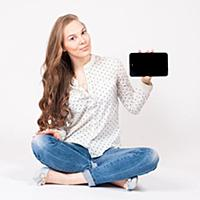Tablet computer. Woman using digital tablet comput