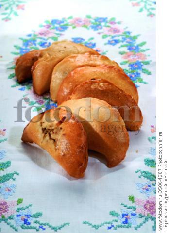 Пирожки с куриной печенкой