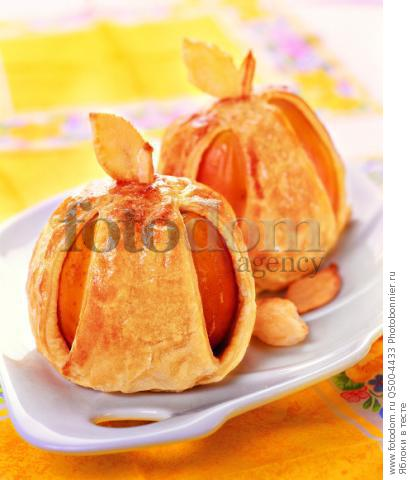 Яблоки в тесте