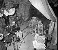 Съемки фильма «Сказка странствий», (1983). На фото