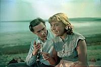Кадр из фильма «Первый эшелон», (1955). На фото: Н