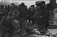 Съемки фильма «Горячий снег», (1972). На фото: Гав