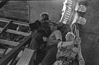 Съемки фильма «Строится мост», (1965). На фото: Га