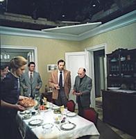 Съемки фильма «Странная женщина», (1977). На фото: