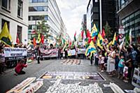 A demonstration on July 22, 2015 in Brussels, Belg