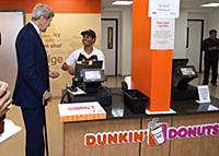 U.S. Secretary of State John Kerry buys a dozen do
