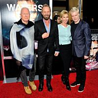 Musicians Sting (2nd L) and Trudie Styler (3rd L)