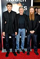 Musician Roger Waters and sons Jack (L) and Harry