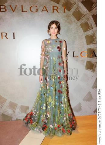 Alexa Chung - 10/14/2015 - ,  - BVLGARI & ROME: ETERNAL INSPIRATION held at . (Photo by Leandro Justen/BFA) *** Please Use Credit from Credit Field ***