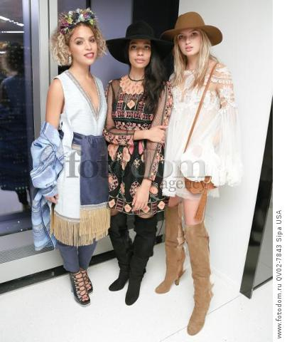 Cleo Wade, Aurora James - 10/13/2015 - New York, New York - CFDA x VOGUE: FASHION FUND DESIGN CHALLENGE COCKTAIL held at One World Trade Center, NYC. (Photo by Matteo Prandoni/BFA) *** Please Use Credit from Credit Field ***