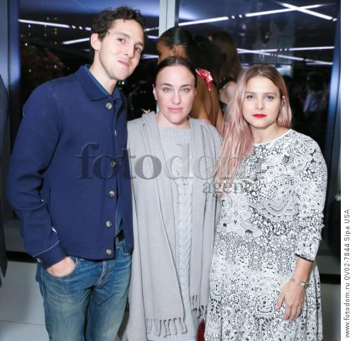 Alex Orley, Ryan Roche, Eva Zuckerman - 10/13/2015 - New York, New York - CFDA x VOGUE: FASHION FUND DESIGN CHALLENGE COCKTAIL held at One World Trade Center, NYC. (Photo by Matteo Prandoni/BFA) *** Please Use Credit from Credit Field ***