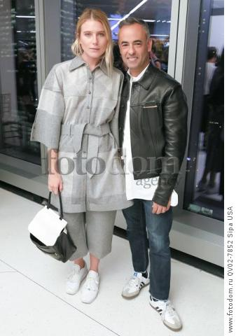 Dree Hemingway, Francisco Costa - 10/13/2015 - New York, New York - CFDA x VOGUE: FASHION FUND DESIGN CHALLENGE COCKTAIL held at One World Trade Center, NYC. (Photo by Matteo Prandoni/BFA) *** Please Use Credit from Credit Field ***