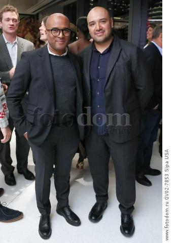 Anthony Watts, Raul Arevalo - 10/13/2015 - New York, New York - CFDA x VOGUE: FASHION FUND DESIGN CHALLENGE COCKTAIL held at One World Trade Center, NYC. (Photo by Matteo Prandoni/BFA) *** Please Use Credit from Credit Field ***