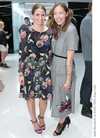 Sophie Marx, Leigh King - 10/13/2015 - New York, New York - CFDA x VOGUE: FASHION FUND DESIGN CHALLENGE COCKTAIL held at One World Trade Center, NYC. (Photo by Matteo Prandoni/BFA) *** Please Use Credit from Credit Field ***