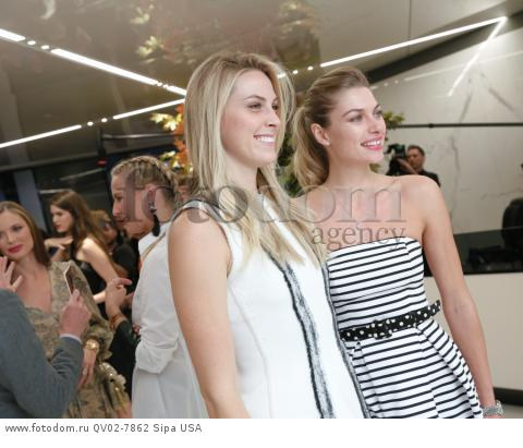 Selby Drummond, Jessica Hart - 10/13/2015 - New York, New York - CFDA x VOGUE: FASHION FUND DESIGN CHALLENGE COCKTAIL held at One World Trade Center, NYC. (Photo by Matteo Prandoni/BFA) *** Please Use Credit from Credit Field ***