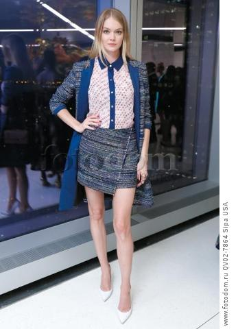 Lindsay Ellingson - 10/13/2015 - New York, New York - CFDA x VOGUE: FASHION FUND DESIGN CHALLENGE COCKTAIL held at One World Trade Center, NYC. (Photo by Matteo Prandoni/BFA) *** Please Use Credit from Credit Field ***