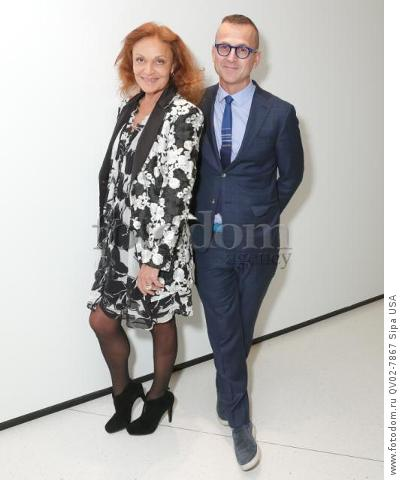 Diane Von Furstenberg, Steven Kolb - 10/13/2015 - New York, New York - CFDA x VOGUE: FASHION FUND DESIGN CHALLENGE COCKTAIL held at One World Trade Center, NYC. (Photo by Matteo Prandoni/BFA) *** Please Use Credit from Credit Field ***