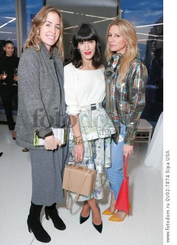 Brett Heyman, Athena Calderone, Jennifer Fisher - 10/13/2015 - New York, New York - CFDA x VOGUE: FASHION FUND DESIGN CHALLENGE COCKTAIL held at One World Trade Center, NYC. (Photo by Matteo Prandoni/BFA) *** Please Use Credit from Credit Field ***