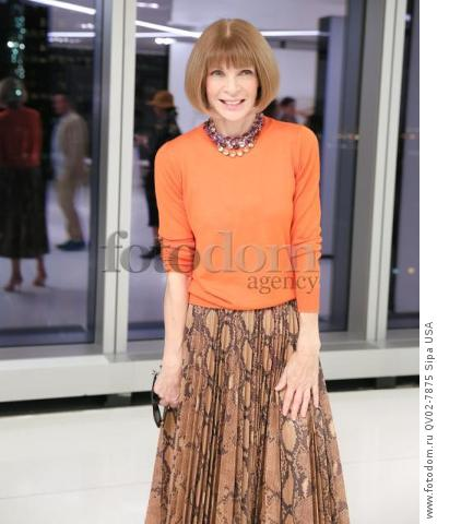 Anna Wintour - 10/13/2015 - New York, New York - CFDA x VOGUE: FASHION FUND DESIGN CHALLENGE COCKTAIL held at One World Trade Center, NYC. (Photo by Matteo Prandoni/BFA) *** Please Use Credit from Credit Field ***
