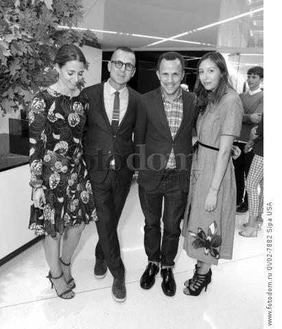 Sophie Marx, Steven Kolb, Marc Karimzadeh, Leigh King - 10/13/2015 - New York, New York - CFDA x VOGUE: FASHION FUND DESIGN CHALLENGE COCKTAIL held at One World Trade Center, NYC. (Photo by Matteo Prandoni/BFA) *** Please Use Credit from Credit Field ***
