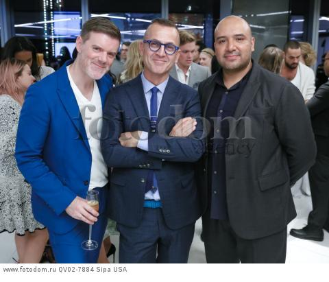 Bradley Schmidt, Steven Kolb, Raul Arevalo - 10/13/2015 - New York, New York - CFDA x VOGUE: FASHION FUND DESIGN CHALLENGE COCKTAIL held at One World Trade Center, NYC. (Photo by Matteo Prandoni/BFA) *** Please Use Credit from Credit Field ***