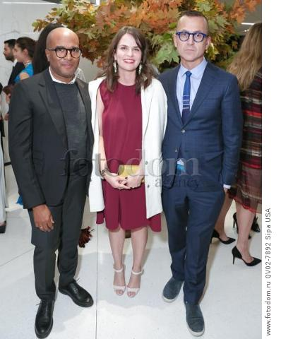 Anthony Watts, Jill Elliott Sanz, Steven Kolb - 10/13/2015 - New York, New York - CFDA x VOGUE: FASHION FUND DESIGN CHALLENGE COCKTAIL held at One World Trade Center, NYC. (Photo by Matteo Prandoni/BFA) *** Please Use Credit from Credit Field ***