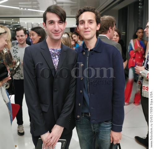 Edward Barsamian, Alex Orley - 10/13/2015 - New York, New York - CFDA x VOGUE: FASHION FUND DESIGN CHALLENGE COCKTAIL held at One World Trade Center, NYC. (Photo by Matteo Prandoni/BFA) *** Please Use Credit from Credit Field ***