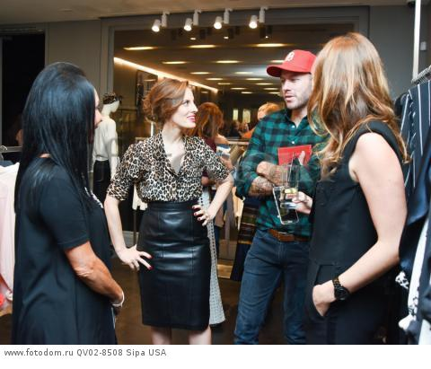NJ Goldston, Liz Goldwyn, Johnny Wujek, Jennifer Abel - 10/21/2015 - Los Angeles, California - EQUIPMENT & VOGUE WITH LIZ GOLDWYN held at Equipment Boutique, Los Angeles,. (Photo by Owen Kolasinski/BFA) *** Please Use Credit from Credit Field ***
