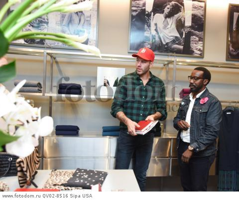 Johnny Wujek, Tod Hallman - 10/21/2015 - Los Angeles, California - EQUIPMENT & VOGUE WITH LIZ GOLDWYN held at Equipment Boutique, Los Angeles,. (Photo by Owen Kolasinski/BFA) *** Please Use Credit from Credit Field ***
