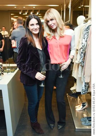 Lisa Morin, Kathy Freston - 10/21/2015 - Los Angeles, California - EQUIPMENT & VOGUE WITH LIZ GOLDWYN held at Equipment Boutique, Los Angeles,. (Photo by Owen Kolasinski/BFA) *** Please Use Credit from Credit Field ***