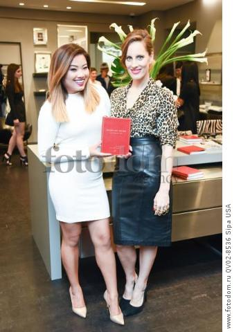 Xixi Yang, Liz Goldwyn - 10/21/2015 - Los Angeles, California - EQUIPMENT & VOGUE WITH LIZ GOLDWYN held at Equipment Boutique, Los Angeles,. (Photo by Owen Kolasinski/BFA) *** Please Use Credit from Credit Field ***