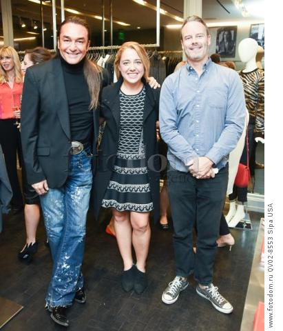 Nick Chavez, Michelle Edgar, Sean Fay - 10/21/2015 - Los Angeles, California - EQUIPMENT & VOGUE WITH LIZ GOLDWYN held at Equipment Boutique, Los Angeles,. (Photo by Owen Kolasinski/BFA) *** Please Use Credit from Credit Field ***
