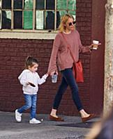 Sienna Miller at the playground with her daughter