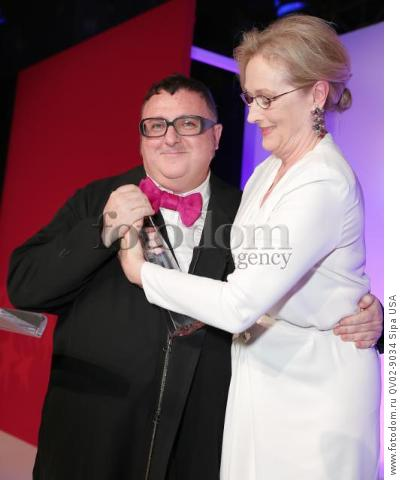 Alber Elbaz, Meryl Streep - 10/22/2015 - New York, New York - THE FASHION GROUP INTERNATIONAL: 31ST ANNUAL NIGHT OF STARS held at Cipriani, NYC. (Photo by Matteo Prandoni/BFA) *** Please Use Credit from Credit Field ***
