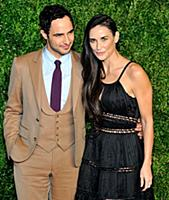 Actors Zac Posen and Demi Moore attend the 12th An