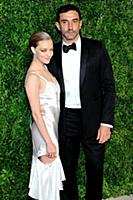 Actress Amanda Seyrfried and Riccardo Tisci attend