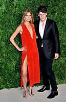 Model Constance Jablonski and designer Wes Gordon