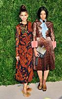 L-R: Singer Zendaya and designer Aurora James atte