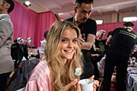 Kate Grigorieva backstage at the 2015 New York Vic